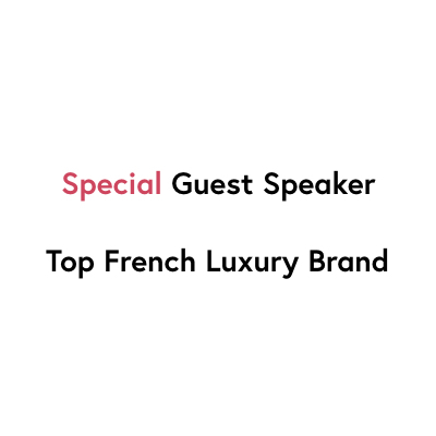 The speaker works for Top French Luxury Brand