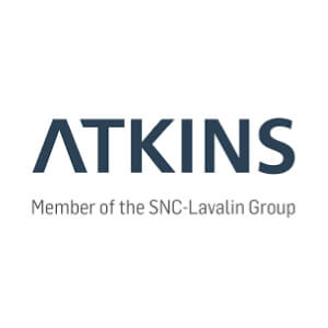 The speaker works for SNC-Lavalin's Atkins