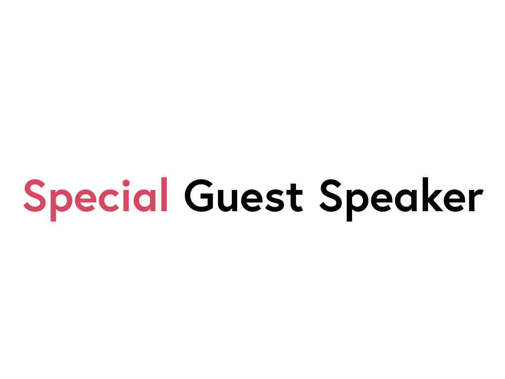 The speaker works for Special Guest Speaker